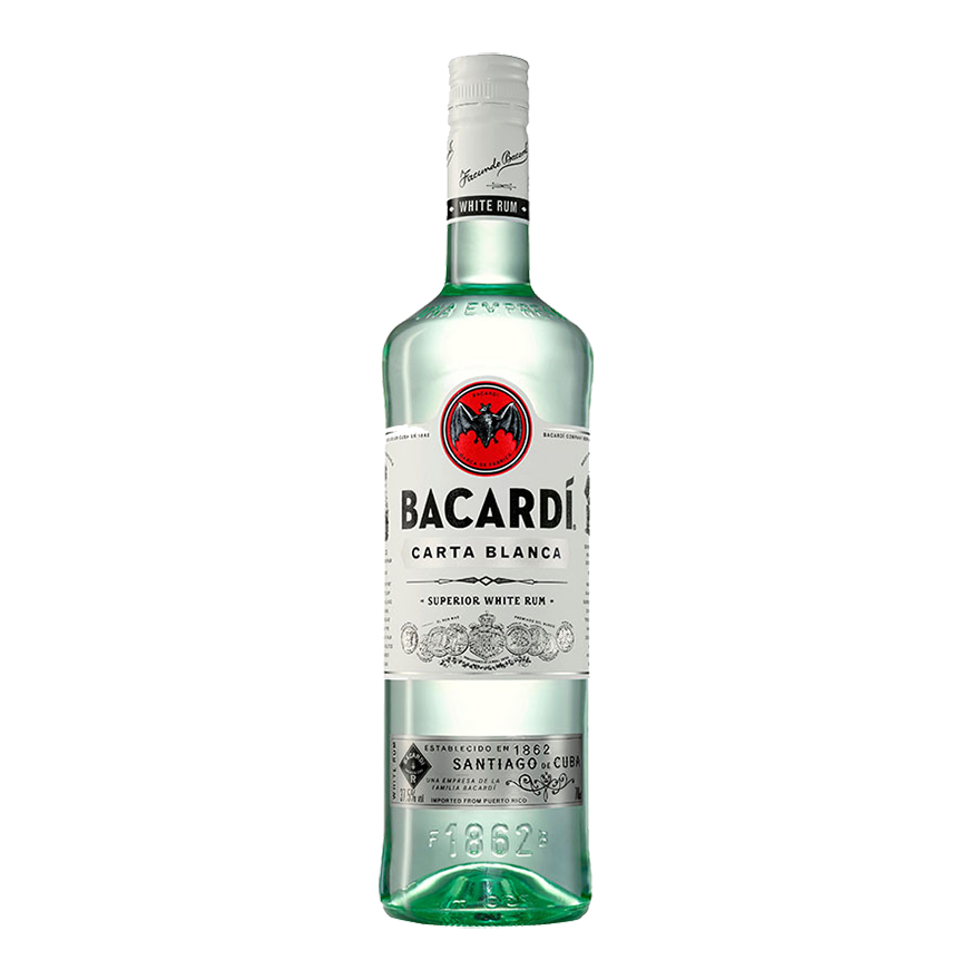 Bacardi Carta Blanca light rum image