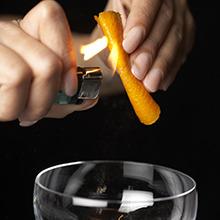 Garnishes for cocktails image