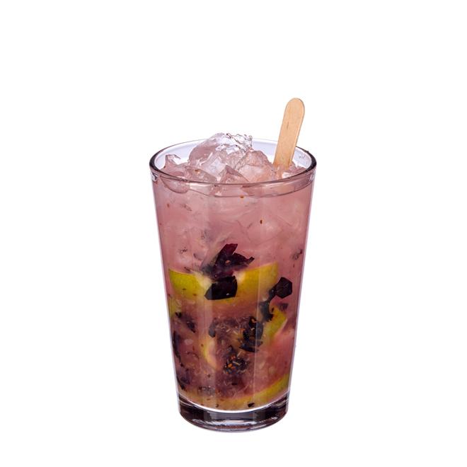 Blueberry Caipirinha image