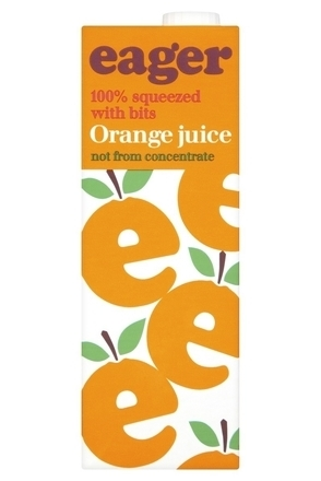 Eager Orange Juice with Bits image