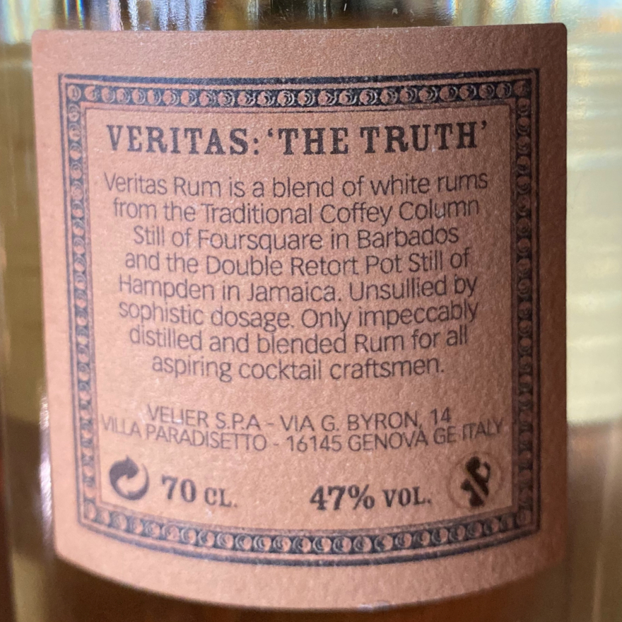 Veritas White Blended Rum image