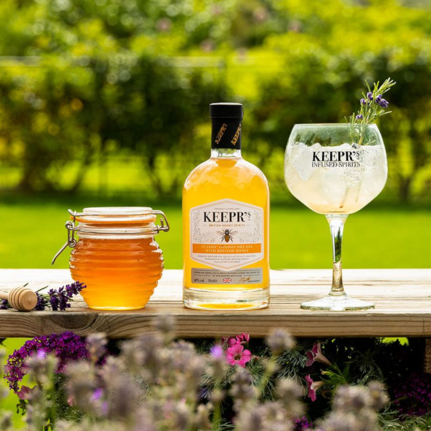 Keepr's Classic London Dry Gin with British Honey image