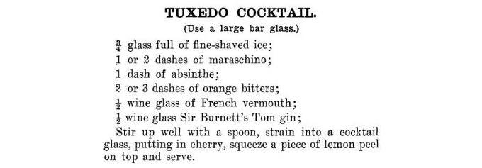Tuxedo cocktail and its many variations image 1