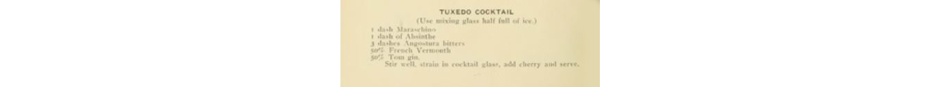 Tuxedo cocktail and its many variations image 2