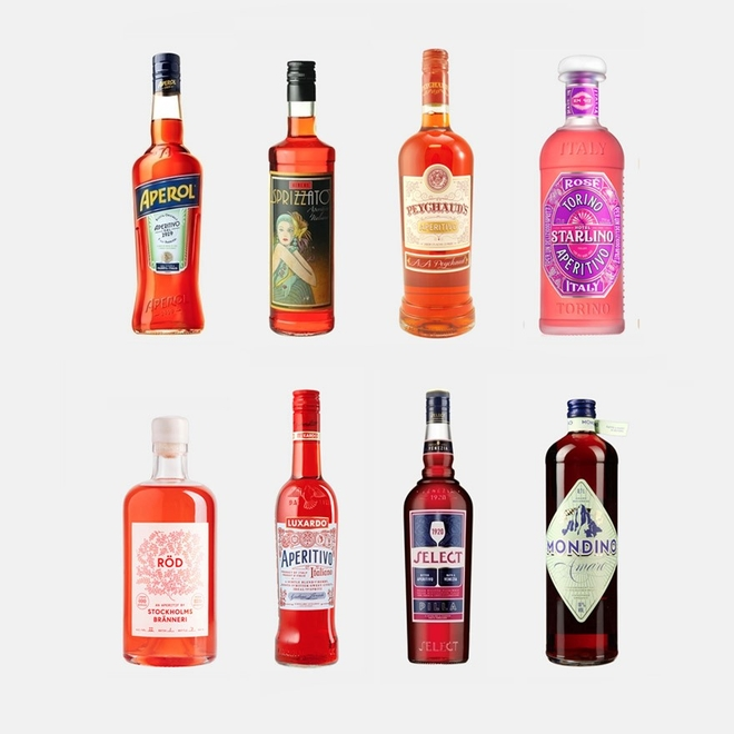 Red aperitivo liqueurs image