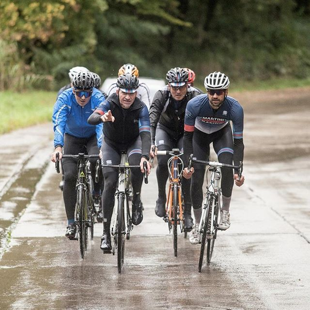 Rain or shine, we train with the crew.