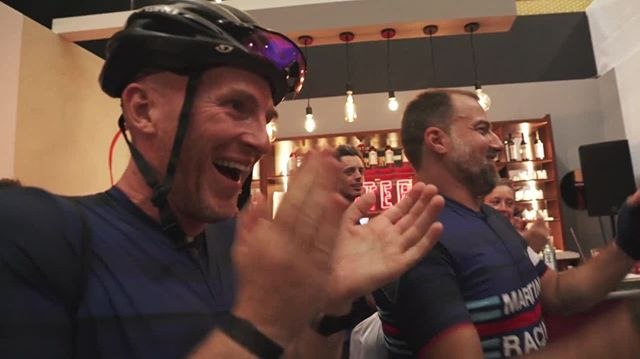 Words can't describe the feeling of crossing the finish line after three days of cycling with industry friends through the Italian countryside.   Wishing everyone a wonderful festive season, a happy new year -  and take #martinitime to pop the MARTINI Prosecco!! ????#EarnYourStripes         Video: @_mnfilm @italybiketours @raphacustom @romabarshow #martiniracingciclismo #martiniracing #martini #earnyourstripes #makebitterchoices #laclassica #healthyhospo #bartending #bartenderlife #bartender #barlife #mixologist #hospolife #hospitality #drinksindustry  #lifebehindbars #cyclingculture #stravacycling #cyclegram #ciclismo #fromwhereiride #cyclistlife #outsideisfree #cyclingpics #stravaphoto 