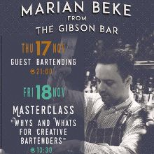 Marian Beke guest bartending και masterclass στο The Trap image