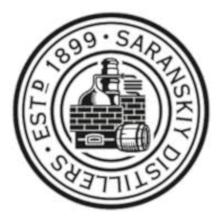 Produced by Saranskiy Distillers