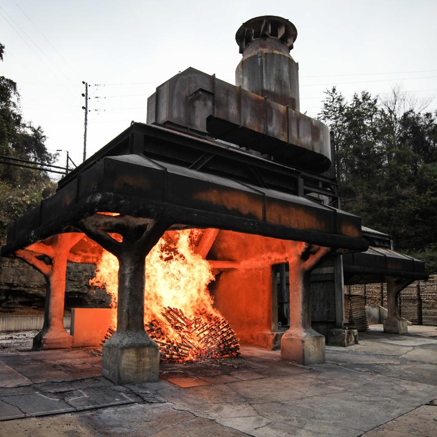 Production of Jack Daniel's image