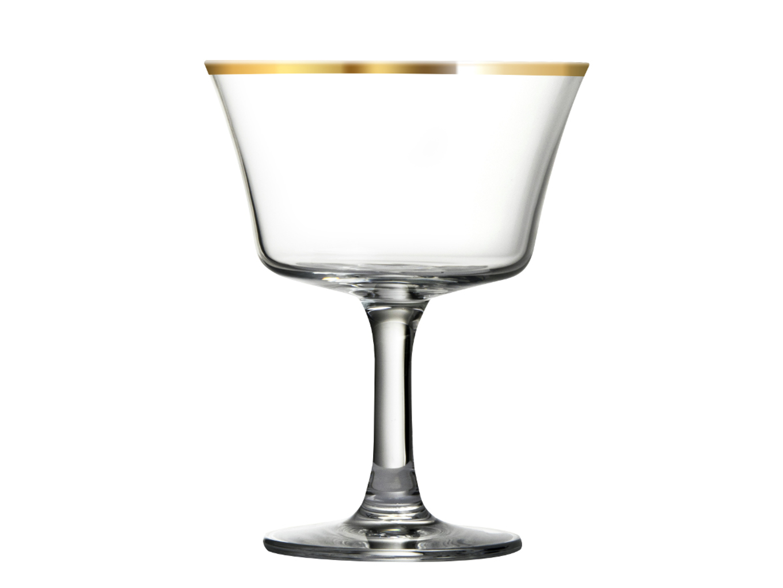 Urban Bar Retro Fizz Gold Rim Coupe 7oz / 20cl image 1