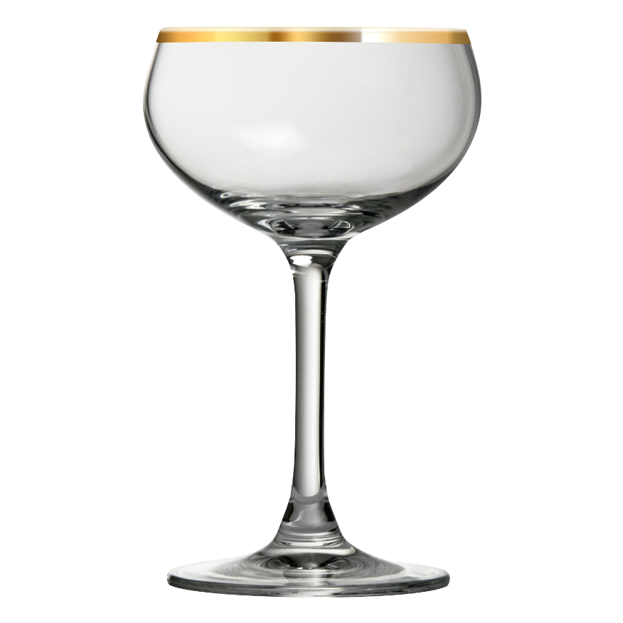 Urban Bar Retro Coupe Gold Rim 7.75oz / 22cl image