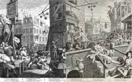 Hogarth's Beer Street and Gin Lane prints image 1