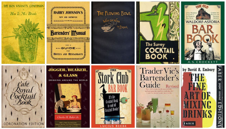 Vintage cocktail books - a timeline image 1