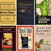 Vintage cocktail books - a timeline image