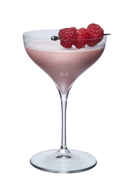 Raspberry Lassi Cocktail image