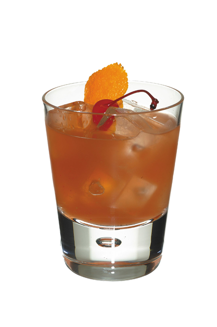 Old Fashioned Cocktail (US muddled fruit version) image