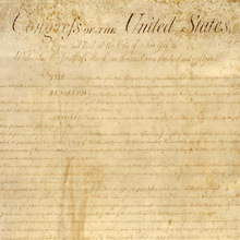 The US Constitution became law on this day image
