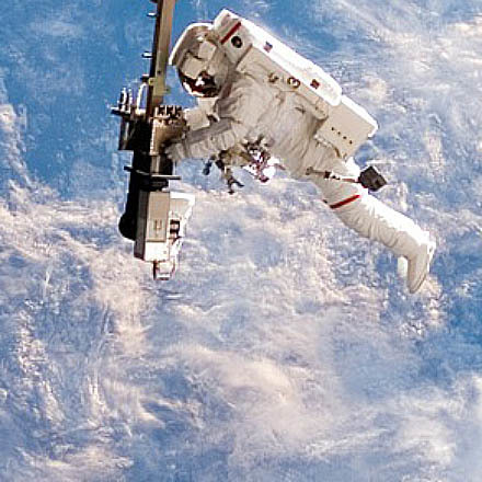 It's the anniversary of the first American spacewalk image