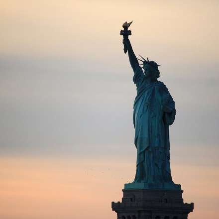 It's the day the Statue of Liberty arrived in New York