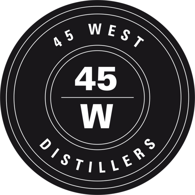 Produced by 45 West Distillers Ltd