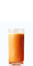 Freshly extracted carrot juice
